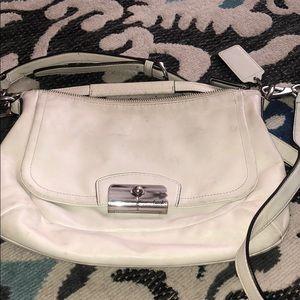 Coach white crossbody purse